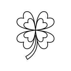 four leaf clover good luck symbol vector illustration vector illustration outline image