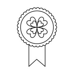 rosette award clover medal lucky concept vector illustration outline image