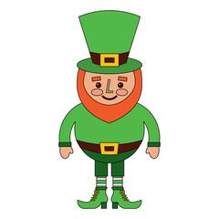 cute cartoon leprechaun st patricks day mascot character