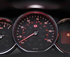 Car MPH gauge lit