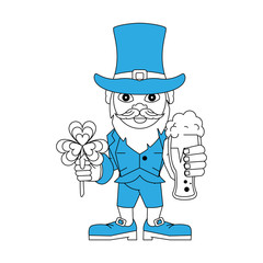 Elf with hat cartoon icon vector illustration graphic design