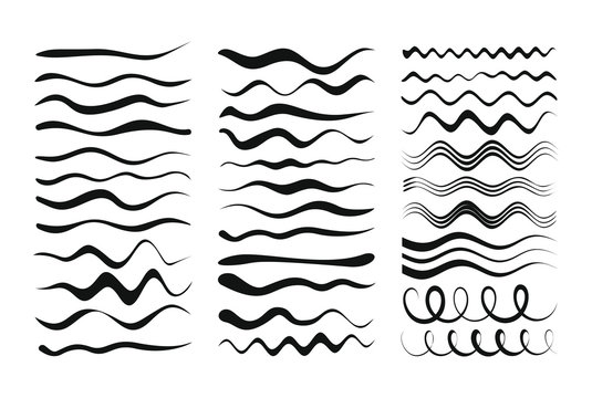 Vector set of art brushes for illustrations. The brushes used are included in the paintbrush palette