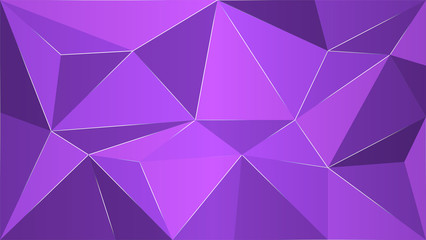 Abstract dark violet geometric background, polygon vector illustration