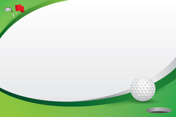 Golf design background. Vector illustration
