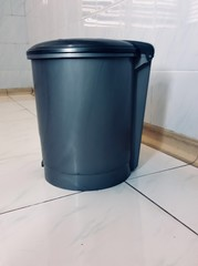 Recycle bin on the floor