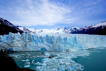 Perito Moreno Glacier in Patagonia Region of Argentina on A Sunny Day