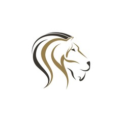 Lion and horse vector illustration