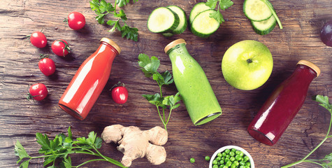 Wall Mural - vegetable smoothies and juices