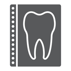 Dental x-ray glyph icon, stomatology and dental, radiology sign vector graphics, a solid pattern on a white background, eps 10.