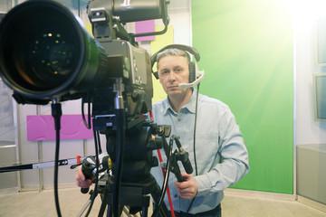 The operator in the Studio.