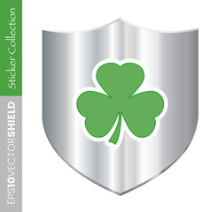 Irish Shamrock Shield Icon