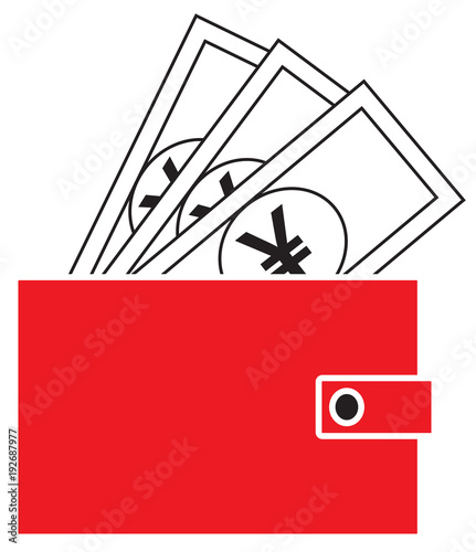Yen Yuan Or Renminbi Currency Icon Or Logo Vector On Notes Popping