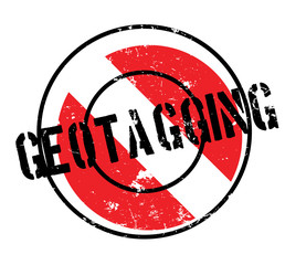 Geotagging rubber stamp. Grunge design with dust scratches. Effects can be easily removed for a clean, crisp look. Color is easily changed.