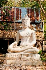 The Buddha meditated towards Nirvana.