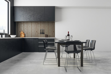 Loft kitchen interior