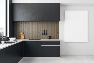 Stylish kitchen with copyspace