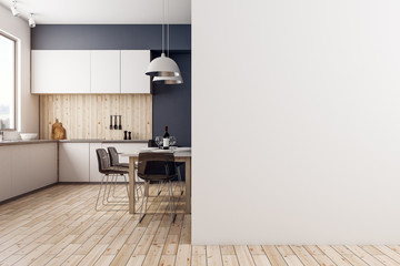 Modern kitchen with copyspace