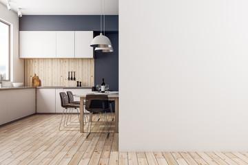Modern kitchen with copyspace