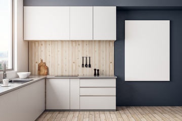 Contemporary kitchen with copyspace
