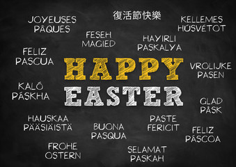 Happy Easter - greetings in multilingual languages