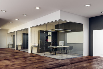 Wall Mural - Modern glass office interior