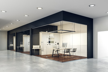 Wall Mural - Contemporary glass office interior