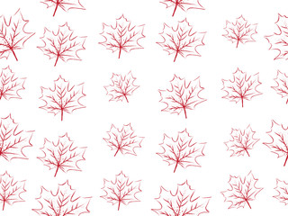 red maple leaf vector seamless pattern for wallpaper, background, cover, greeting card, fabric textile