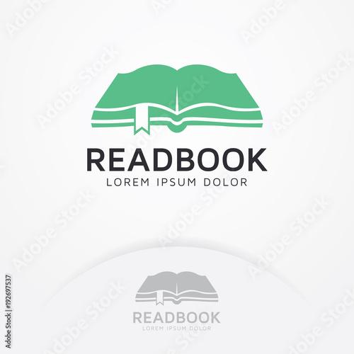 Book Logo Logo Reading Book Logo Symbol Of Education With A