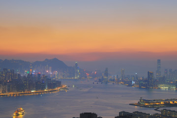 sunset a magic hour of the day hk