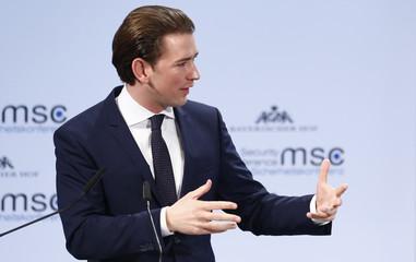 Austria's Chancellor Kurz talks at the Munich Security Conference in Munich