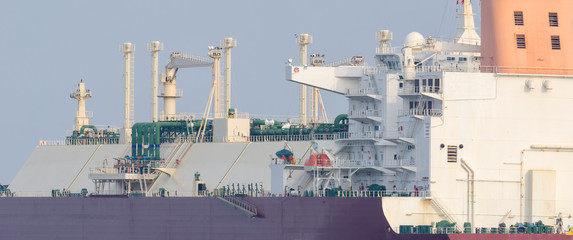 LNG TANKER- Portrait of a big modern ship