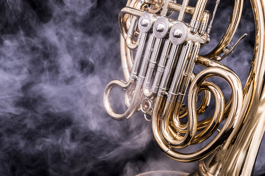 French Horn in smoke