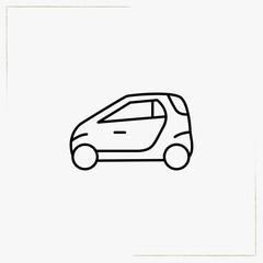 smart car line icon