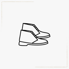 boots line icon