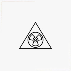 radioactive sign line icon