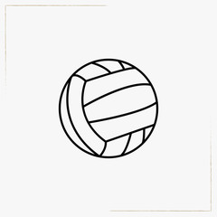 volley ball line icon