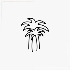 palm tree line icon