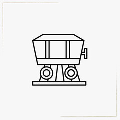 car of locomotive line icon