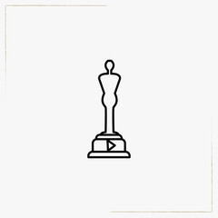 cinema trophy line icon