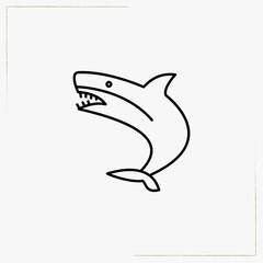shark line icon