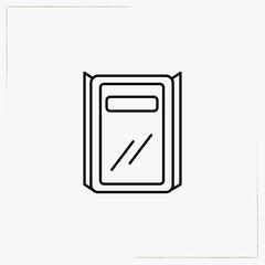 police shield line icon