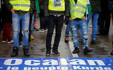 Pro-Kurd demonstrators attend a protest march demanding the release of the PKK leader Ocalan in Strasbourg