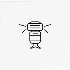 camera flash light line icon