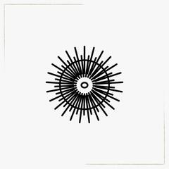 sea urchin line icon
