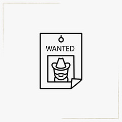 wanted line icon