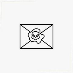 pirate  envelope line icon