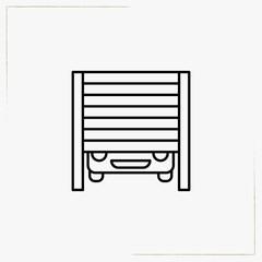garage line icon