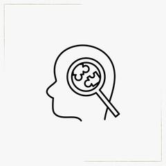 brain science line icon