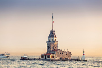 The Maiden Tower in Istanbul, Turkey