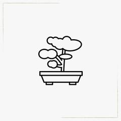 bonsai line icon